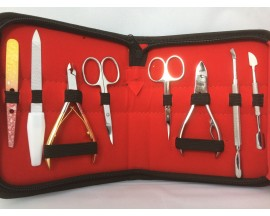 Manicure Pedicure 8 Piece Tool Kit Set Stainless Steel